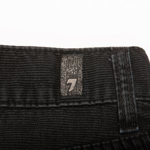 7 For All Mankind Black Corduroy Standard Straight